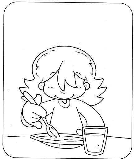 El rincon de la infancia rutinas diarias dibujos for Comedor para dibujar