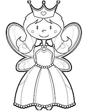 Princesa  Dibujo Y Molde