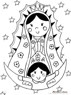 our lady of guadalupe coloring pages - me gusta la clase de religi n virgencita de guadalupe
