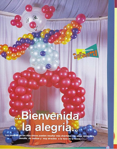 Payaso  Decoracion Con Globos