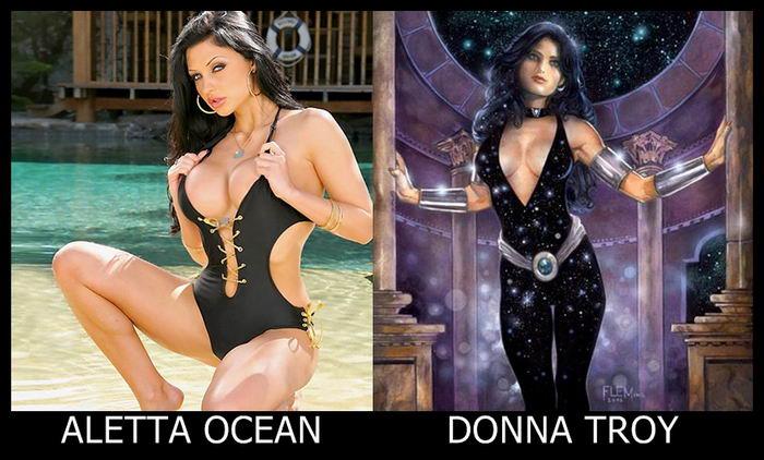 Aletta Ocean como Donna Troy