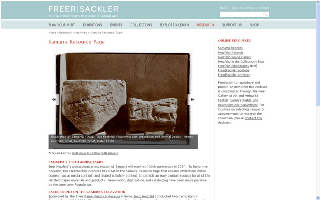 Samarra Resource Page at the Freer|Sackler Archives.