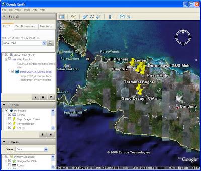 Pulau jawa Google Earth