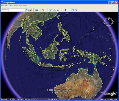Peta Indonesia dengan Google Earth