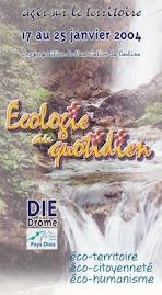 Affiche Rencontres de l'Ecologie 2004