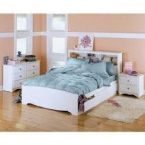 White 4 Piece Bedroom Set - Full Size