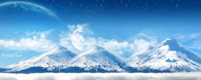 قصص محفزة في تنمية الذات - صفحة 3 Dual-Screen-A-Dreamy-World-Snowy-Mountain-2560x1024