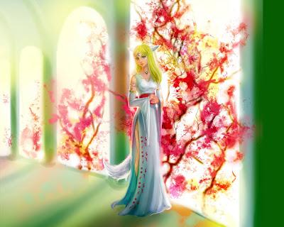Beautiful girl painting background
