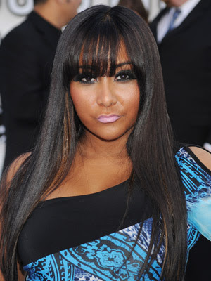 Snooki Very Long Straight Hairstyle with Bangs