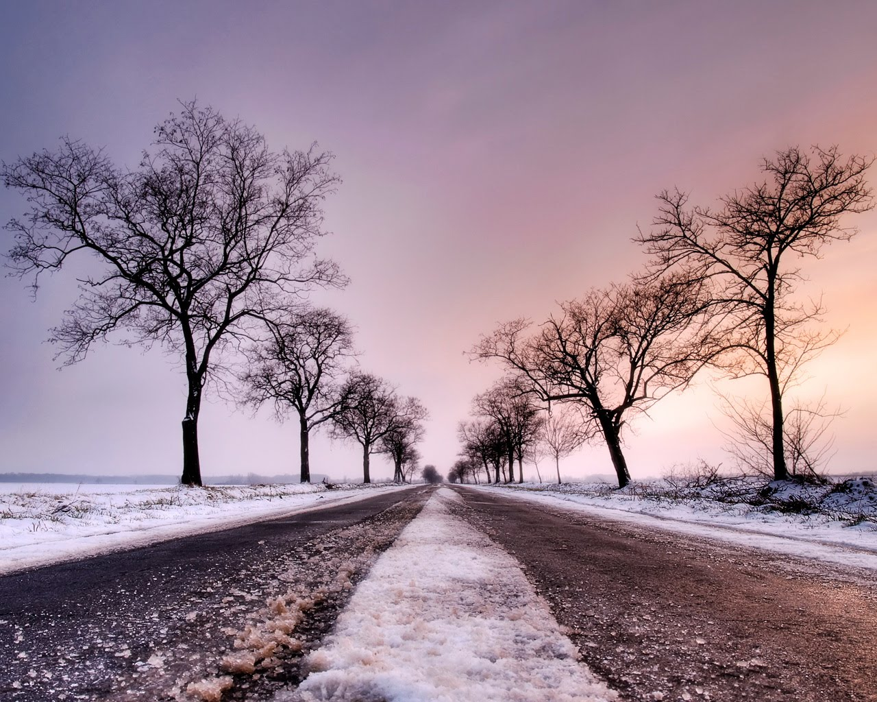 latest desktop backgrounds: winter road desktop backgrounds