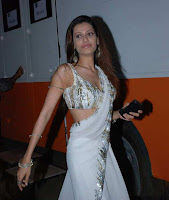 Payal Rohatgi White Saree