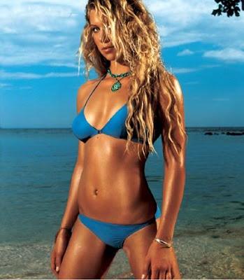 Veronica Kay Blue Bikini