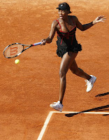 Venus Williams Sexy in Black Mini Skirt