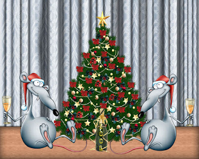 Funny Christmas Tree Wallpaper