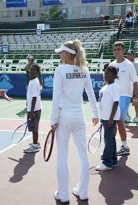 Tennis Star Anna Kournikova in Dress