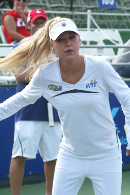 Anna Kournikova in White Tennis Dress