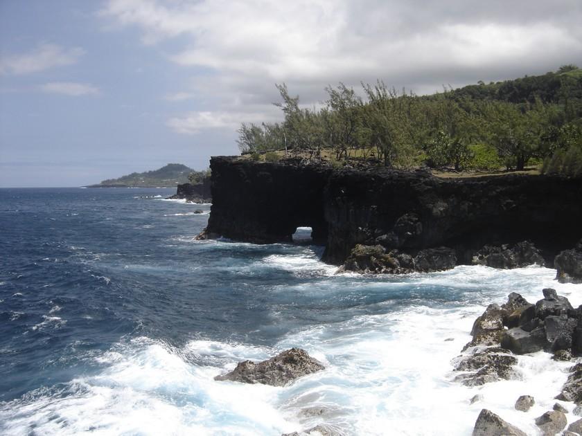 Le Baril, la côte du sud sauvage à l'ouest St Philippe