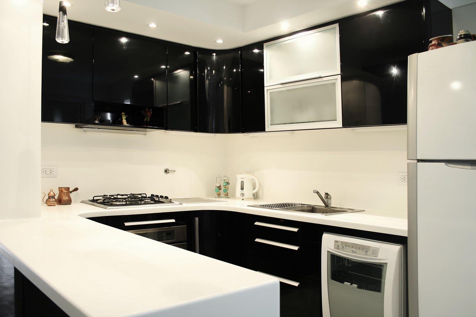 Cuando las ideas se concretan recuperando espacialidad 2 for Muebles de cocina negro
