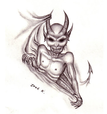 Devil's Escape (Tattoo Drawing) Demon Skull