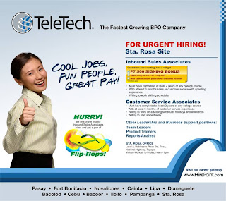 teletech sta rosa call center job