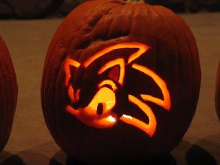 Sonic the Hedgehog Pumpkin