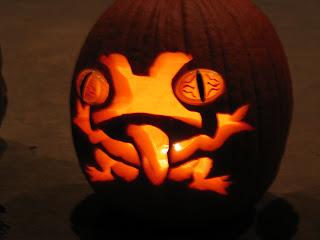 Freaky Frog Pumpkin