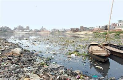 buriganga river pollution by tannery industry Processing animal skins in dhaka poisons workers, pollutes dhaka's river yet avoids the international spotlight.