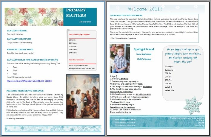 Lds Relief Society Newsletter Template   Beautiful Scenery Photography