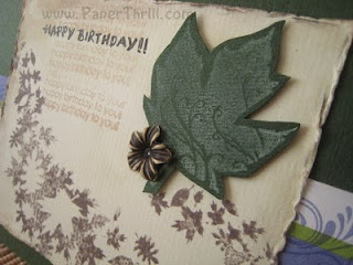 Maple leaves handmade birthday card