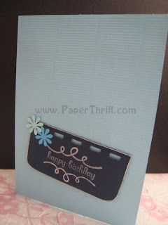 Mystic blue birthday present pop up card