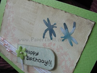 Aged love notes birthday card set