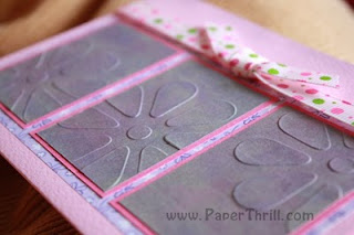 Handmade embossed flower card