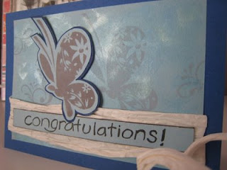 Congratulatory butterflies card