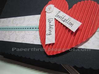 Heart-stitch wedding card