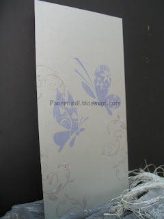 Flourishing butterfly wedding card