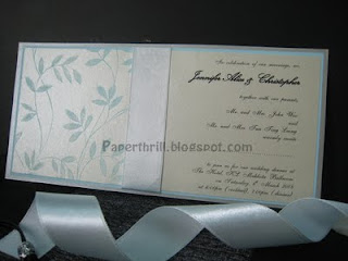 Tiffany blue whimsical vines wedding card