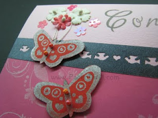 Dancing butterfly handmade card