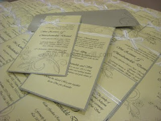 Vintage design handmade wedding invitation