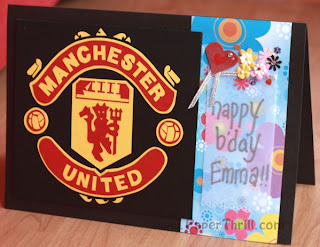 Manchester United handmade card with football penalty view