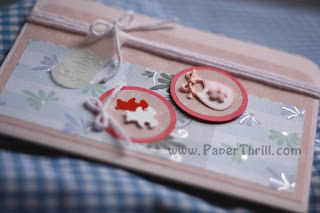 Handmade Pink baby newborn card