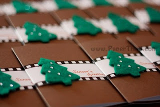 Handmade Christmas tree film strip greeting cards