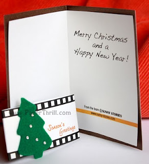 Christmas tree film strip greeting cards
