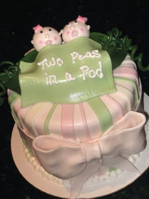 cakes your fondant cake design destination twin girls baby shower