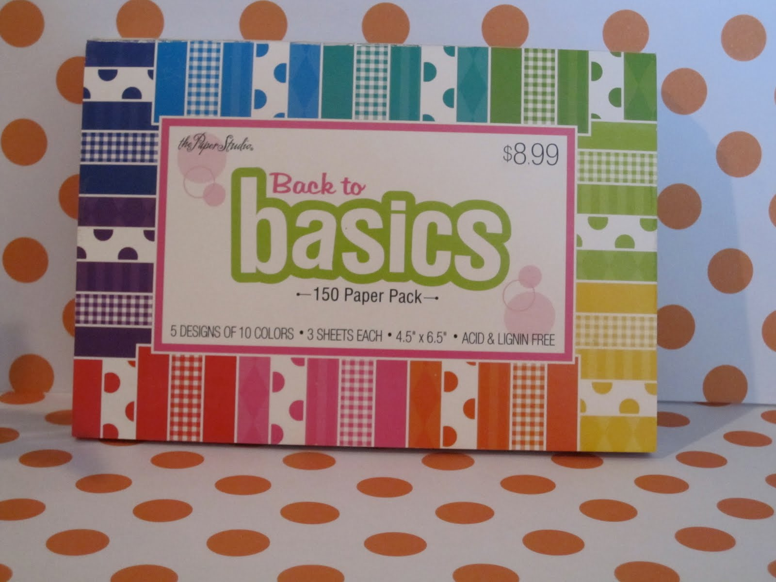 Hot For Dots Multi Colored Polka Dot Scrapbook Paper
