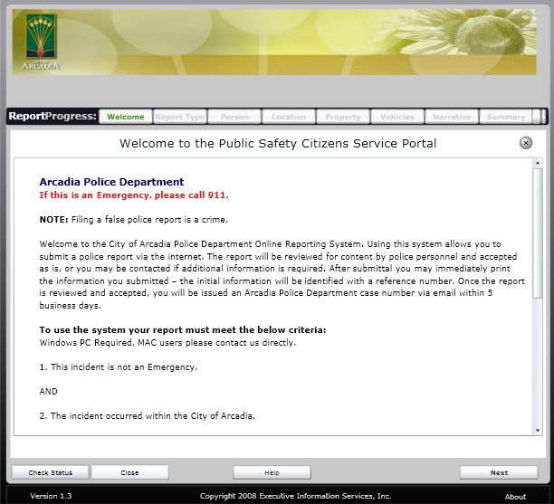 Arcadia Police Department News Information Blog Weekly Tip
