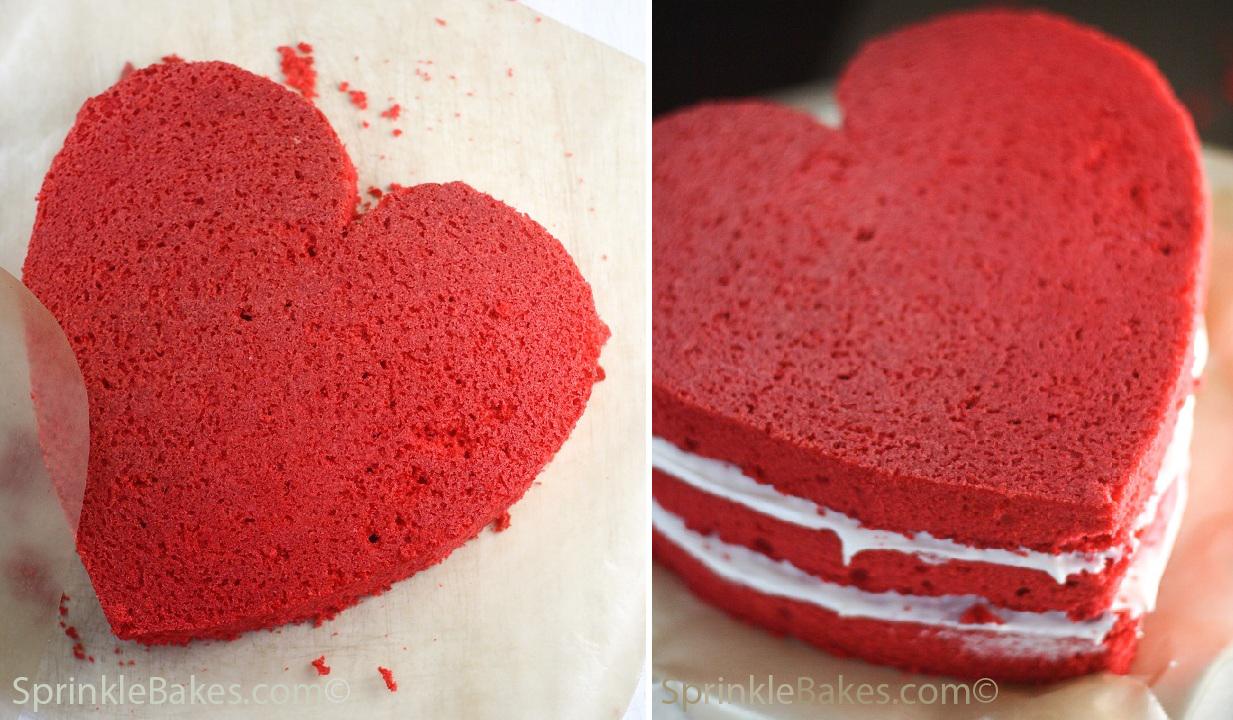 Heart Shaped Red Cake Images : Heritage Red Velvet Cake Sprinkle Bakes