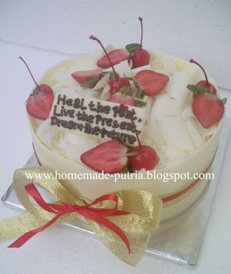 Order] White Forest Cake Special For Firmansyah Jogja :: From Mba ...