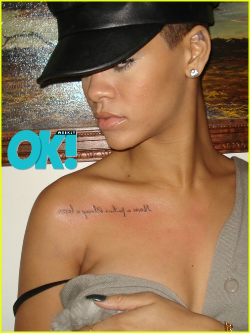 Rihanna#39;s chest tattoo, Rosie