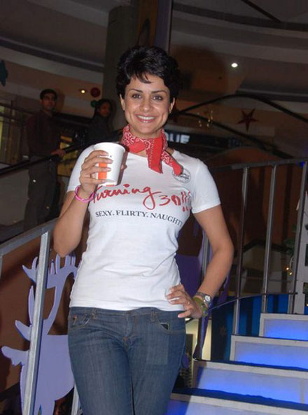 gul panag in tshirt at turning promotional event at inorbit mall photo gallery