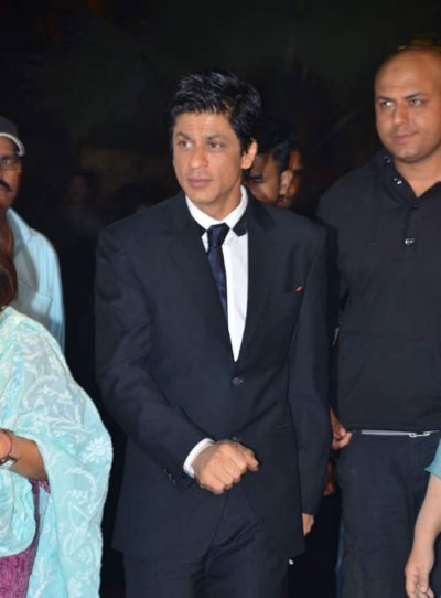 Shahrukh Khan in Italian Fit suit at Filmfare Nominations Party